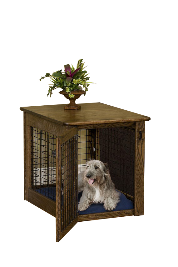 CHEW PROOF DOG CRATE WITH WIRE STRIPS